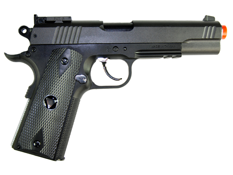 TSD Sports M1911-Tac Spring Airsoft Pistol Heavy Weight, All Black