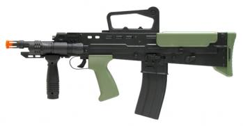Spring L86A2 Assault Rifle FPS-375 Flashlight, Fore Grip Airsoft Gun
