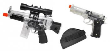 Crosman Urban Mission Airsoft Kit M74 AEG Mini Machine Gun FPS-150 And P30T Spring Pistol FPS-350 Airsoft Gun