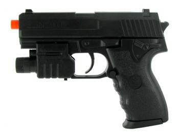 Spring Mini USP Pistol FPS-150 Laser, Flashlight Airsoft Gun