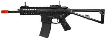 Green Gas WE PDW Assault Rifle FPS-500 Full Metal, Side Folding Stock, Integrated Rail System Airsoft Gun