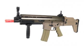Electric DBoys MK16-L Tan Rifle FPS-420 Full Metal, Adjustable Stock Airsoft Gun