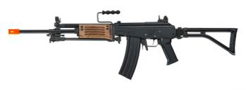 ICS Electric Full Metal Galil ARM Assault Rifle FPS-475 Folding Stock, Bipod, Double Magazines Airsoft Gun