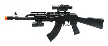 Spring Tactical AK47 FPS-285 Laser, Flashlight, Airsoft Gun