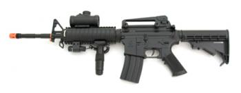 AEG Electric M16 Assault Rifle FPS-200, Scope, Tactical Light, Laser Airsoft Gun