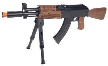 Spring Bunker AK47 Assault Rifle FPS-225 Folding Bipod Airsoft Gun