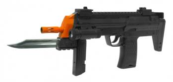 Spring MP7 Bayonet Submachine Gun FPS-150 Flashlight Airsoft Gun