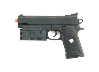 Spring M-185AF Pistol, FPS-150, Laser Sight, Blue LED Tactical Light Airsoft Gun