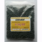 GOLDENBALL 0.30g 2500 round 6mm airsoft BBs Airsoft Gun Accessory (Black)